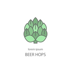 Hop cones craft beer vector