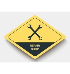 icon REPAIR SHOP and shadow vector image