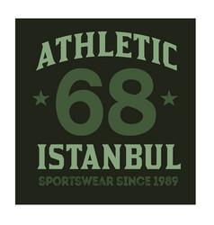Istanbul sport t-shirt design vector