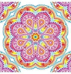 kaleidoscopic floral pattern mandala vector image