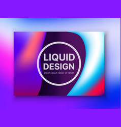 landing page background style liquid vector image