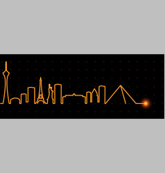 las vegas light streak skyline vector image