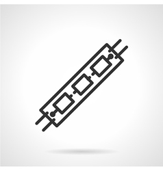 Led black line icon vector