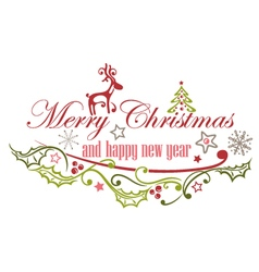 Merry Christmas decoration vector