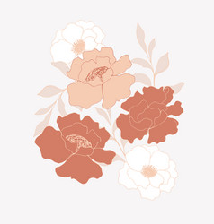 minimalism card floral art design delicate poster vector image