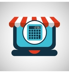 Online shopping concept calculator icon vector