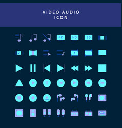 photo video flat style design icon set vol2 vector image