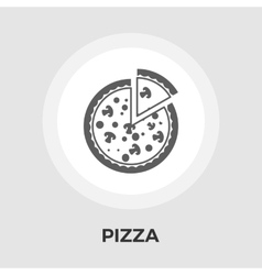 Pizza flat icon vector image