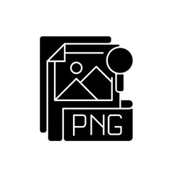 Png file black glyph icon vector