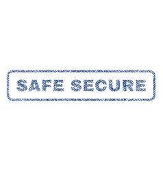 safe secure textile stamp vector image