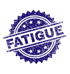 Scratched textured fatigue stamp seal vector