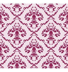 seamless baroque pattern vector image vector image