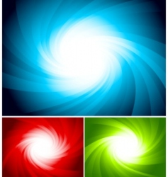 set colorful swirl background vector image