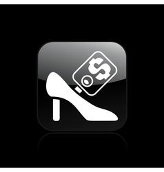 shoe sale icon vector image
