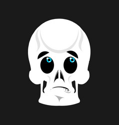 Skull surprised emoji skeleton head astonished vector