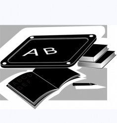 Slate and book vector