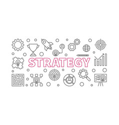 Strategy outline horizontal banner or vector