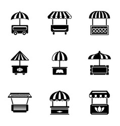 Street foody icons set simple style vector