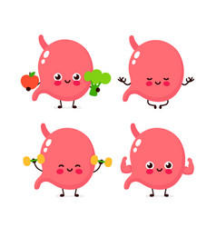 strong cute healthy happy human organ vector image