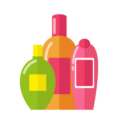 Three patterns of bottles vector