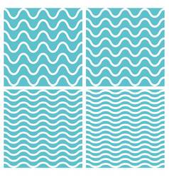 tile seamless pattern wavy set vector image