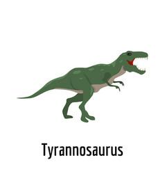 Tyrannosaurus icon flat style vector