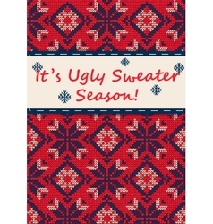 Ugly Sweater Party vector image