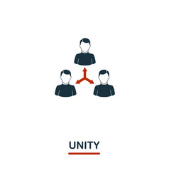 unity icon premium style design from teamwork vector image