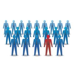 Unusual person in crowd leadership vector