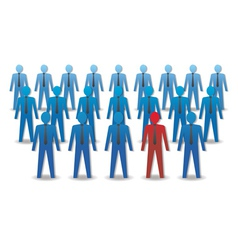 Unusual person in the crowd Leadership vector image