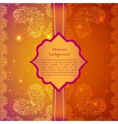 Vintage beige flowers ornament in indian style vector