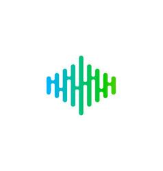 Wave music logo icon design vector