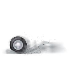 Wheel burn out vector