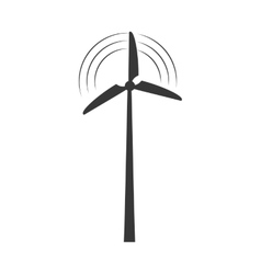Wind mill ecology save renewable icon vector