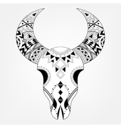 Zentangle animal skull vector