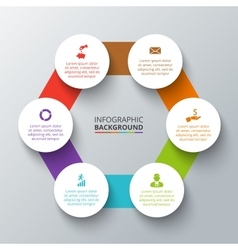 hexagon with circles for infographic vector image