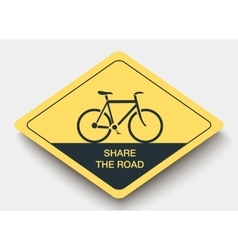 icon SHARE THE ROAD and shadow vector image vector image