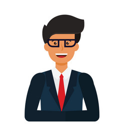 young tv newscaster cartoon flat vector image