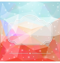 Glass frame vector image vector image