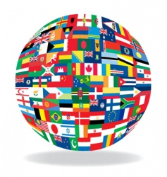globe flag vector image