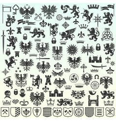 Heraldic Design Elements vector image vector image