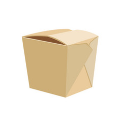 chinese restaurant take-out box vector image vector image