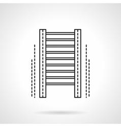 Wall bars gym flat line icon vector image vector image