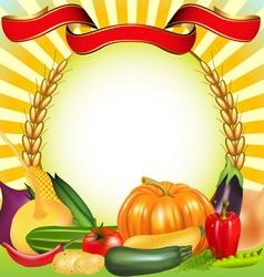 Harvest Vegetables Frame vector image