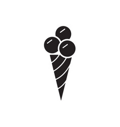 Ice cream icon mono symbol vector