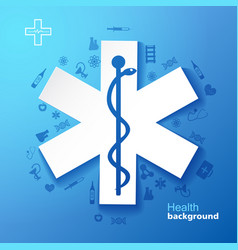 Medicine and health background vector
