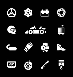 Set icons of karting vector image vector image
