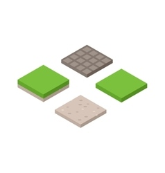 3d of isometric land cross section vector