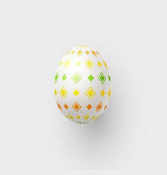 abstract 3d easter egg with geometric pattern vector image
