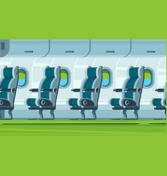 airplane interior transportation cabin seats vector image